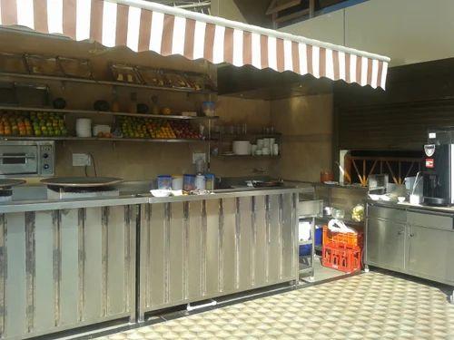 Fast Food Kitchen Setup Pav Bhaji Counter Manufacturer From Mumbai