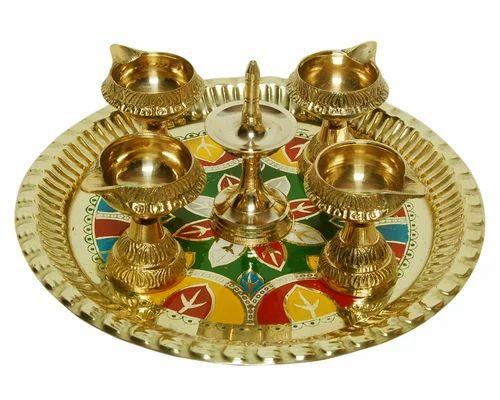 Diya Thali Diwali Lamps Lighting Luxmi Pooja Decoration