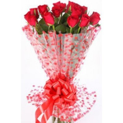 Birthday Gifts A Bunch Of 12 Red Roses Service Provider From Noida