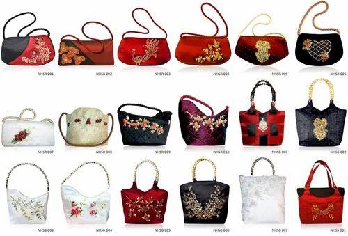 Handmade Silk Las Handbags Purses Clutch Totes Mobile Covers Manufacturer From Bengaluru