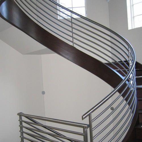 Glass And Metal Stair Railings