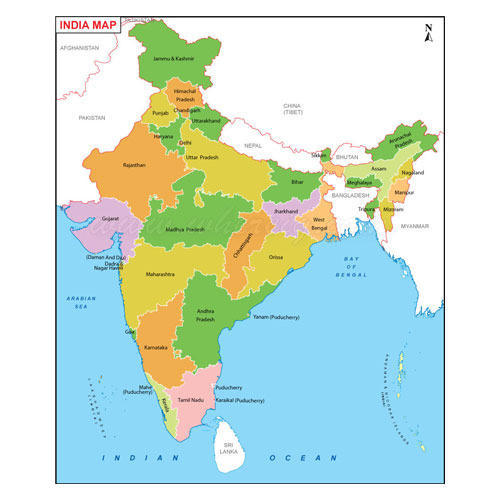 Political Map Of India With States.Political State Maps Wholesale Price For Rajnitik Rajya Nakshe In