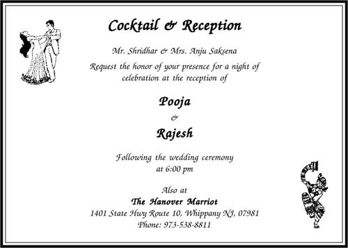 Cocktail Ceremony Cards Exporter From Mumbai