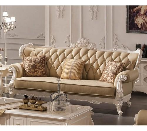 Elegant Indian Sofa Designs For Small Drawing Room In Home: Royal Wooden Sofa Manufacturer From